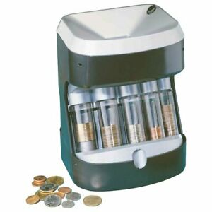 Coin Sorter Counter Automatic Machine Tube Stack Count Wrapper Bank Business New