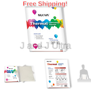 Nuova Premium Thermal Laminating Pouches 9 X 11 5 Inches Letter Size 3 Mil