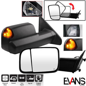 Power Heated Side Mirrors For 2002 08 Dodge Ram 1500 2003 09 2500 3500 Tow Pair