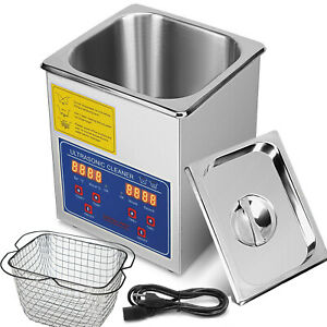 New 2l Ultrasonic Cleaner Stainless Steel Industry Heated Heater With Timer 60w