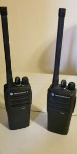 Two motorola Cp200d 136 174 Mhz Vhf Aah01jdc9jc2an Free Charger Let s Deal