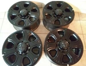 20 Dodge Ram 2500 3500 Laramie Cummins Oem Factory Oem Black Wheels Rims 8x165