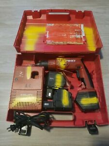 Hilti Sf120 a Cordless Drill 3 12 Volt Batteries And Charger Pre Owned