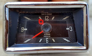 Vintage Mercedes Car Vdo Dash Clock Kienzle Electric