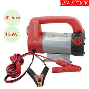 12v 10 5gpm Electric Diesel Oil And Fuel Transfer Extractor Pump Set Kit Us Ship