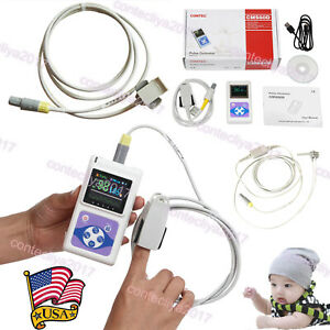Infant pediatric adult Handheld Pulse Oximeter Spo2 Heart Rate Monitor Pc Sw Usa