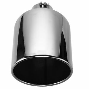 4 Inlet 10 Outlet 18 Long Stainless Steel Diesel Exhaust Tip Pipe Polished Us