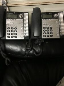 2 At t Small Business System Model 1070 Corded Desk Phone 4 Lines Speakerphone