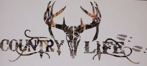 Country Life W Deer Decal Camper Rv Motorhome Girl Graphic Sticker Decals