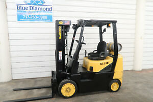 2006 Daewoo Gs25e 3 5 000 Lb Lift Lp Gas Three Stage Mast Sideshift Doosan
