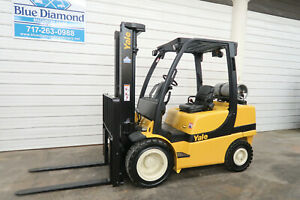 Yale Glp060vx 6 000 Pneumatic Forklift Lp Gas Three Stage Nissan Toyota