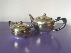 Quality Vintage Silver Plate T Pot Hot Water Mike Jug