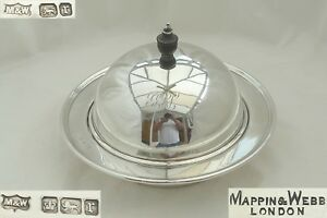 Rare Edwardian Hm Sterling Silver Muffin Dish Cover 1909