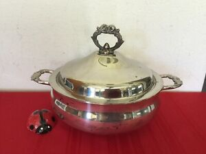 English Silver Plate Covered Casserole Dish Mfg Corp By Leonard Silver Usa