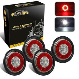 4x4 Red White 16 Led Stop Turn Tail Brake Reverse Reflective Lights Flush Mount