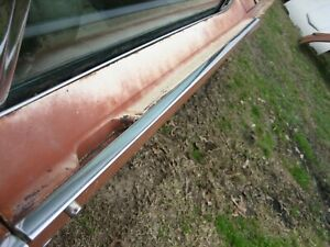 62 Thunderbird Right Passenger Exterior Upper Top Edge Handle Trim Molding 1962