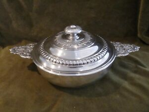 Gorgeous French Sterling Silver Covered Vegetable Dish Louis Xiv St Boin Taburet