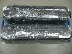 Proform 302 135 ford Racing cast Black Aluminum Slant Edge Valve Covers 289 351