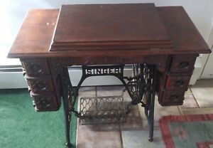 Antique 1900 Singer Treadle 6 Drawer Sewing Machine Oak N178668 Elizabethtown