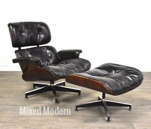 Original Herman Miller Eames Mid Century Lounge Chair And Ottoman