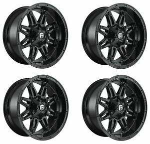 Set 4 20 Fuel Hostage D625 Gloss Black Wheels 20x9 5x5 5 5x150 20mm Truck Rims