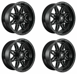 Set 4 20 Fuel Hostage D625 Gloss Black Wheels 20x9 6x135 6x5 5 20mm Truck Rims