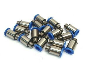Lot Of 15 Festo Size 6 Push To Fit Pneumatic Adapters