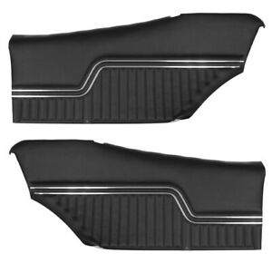 1970 1971 1972 Chevelle Rear Interior Door Panels For Coupe In Black J 6800