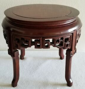 Superb Chinese Rosewood Hand Carved Stand Base For Fish Bowl Vase Statute 71 2