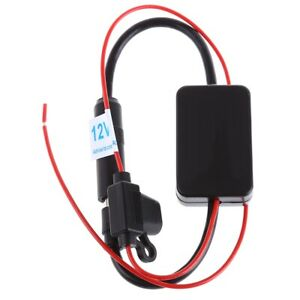 Dc 12v Ant 208 Radio Fm Antenna Signal Amplifier Booster For Marine Car Boat Rv