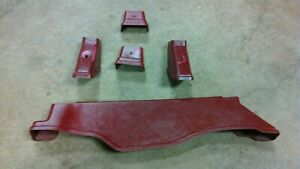 1987 1993 87 93 Mustang Seat Bolt Bracket Cover Lot Oem 5 0 Foxbody Gt Lx Red