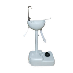 Portable Hand Washing Sink Faucet Station Wash Basin W Faucet garden Pipe Joint
