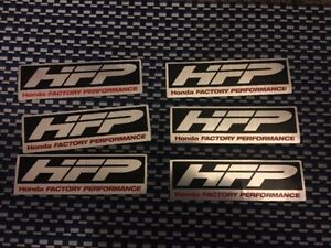 Hfp X6 Honda Factory Racing Decals Sticker 5x1 5 Inch Free Shipping