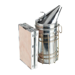 Removable Galvanized Plate Leather Honey Bee Hive Smoker Fogger Beekeeping Us