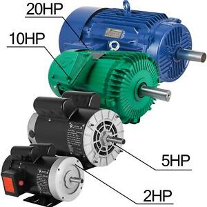 Electric Motor 1 20hp 1phase 3phase 5 8 shaft Genaral 184t 56 Frame Small Shop