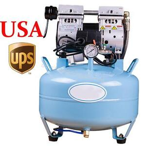 Dental Noiseless Oil Free Oilless Silent Air Compressor 30l 550w F Dental Chair