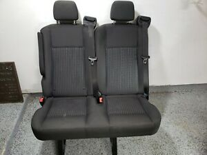 2015 2018 Ford Transit Van 2 Person Bench Double Seats Black Cloth Rear Row