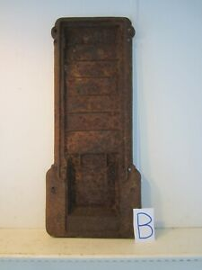 Antique Rusty Cast Iron Panel Wall Decor Wood Burning Stove Steampunk Part B