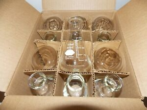 New Box Of 12 Kimax Glass Erlenmeyer Flasks 125 Ml Kimble Glass Inc 26500 125