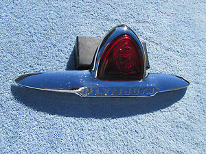 1946 1947 1948 Plymouth Coupe Trunk Emblem
