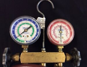 Yellow Jacket 2 valve Test And Charging Manifold A c Gauge Set W Hoses cr