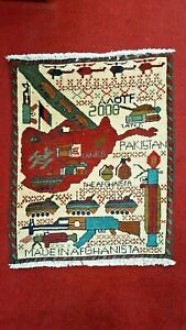 2008 Afghan War Rug Hand Knotted From Afghanistan Size 24 1 2 X 32