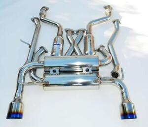 Invidia 60mm Gemini Cat Back Dual Exhaust For 03 08 Nissan 350z Hs02n3zgit