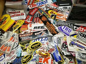 Vintage Stickers Decals Racing Auto Motorcycle Mixed Lot Of 25