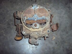 Rochester Quadrajet 1967 Chevy With Air Manual Transmission Needs Rebuilt