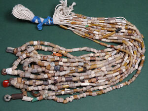 10 Ancient Glass Bead Necklaces Gold Sandwich Beads Roman 100 300 Ad
