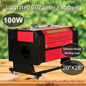 100w Usb Laser Engraver Co2 Cutter Engraving Cutting Machine 700x500mm