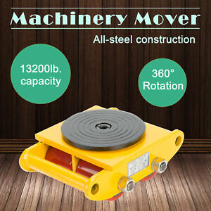 6t Industrial Machinery Mover With 360 rotation Cap 13200lbs 4 Rollers