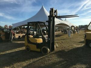 Yale Glc060 6000 Cap Lp Forklift 188 Lift 42 Forks Cushion Tires Compact hd