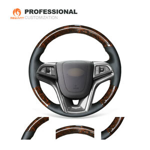 Wood Grain Carbon Fiber Soft Leather Steering Wheel Cover For Chevrolet Malibu